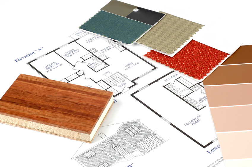 Floor plans and decorating samples